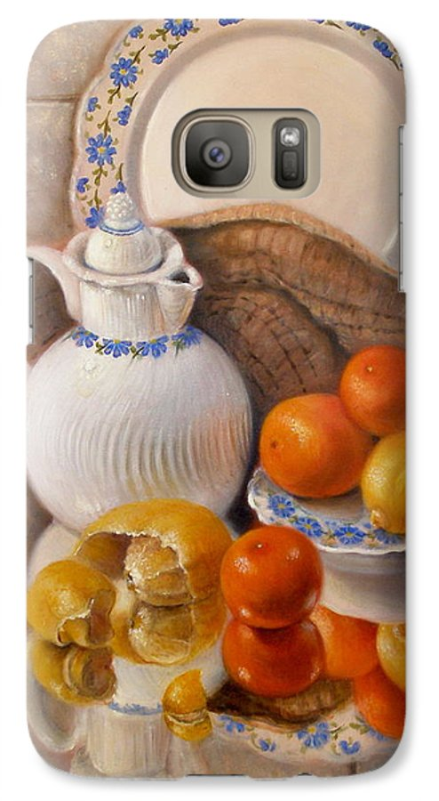 Realism Galaxy S7 Case featuring the painting Reflections by Donelli DiMaria