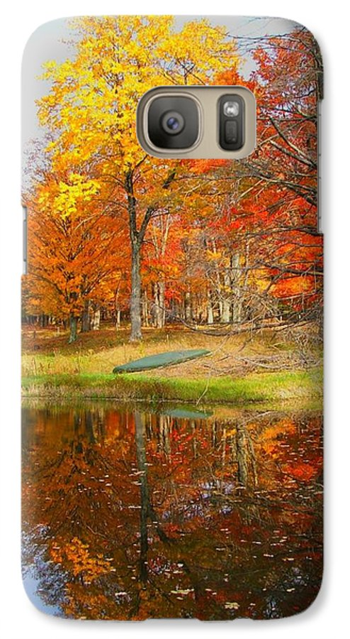 Fall Galaxy S7 Case featuring the photograph Reflections Of Autumn by Judy Waller