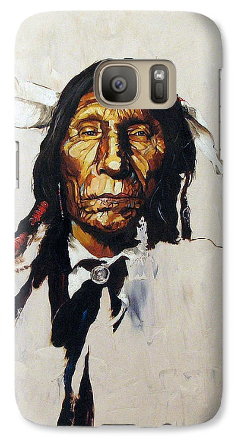 Southwest Art Galaxy S7 Case featuring the painting Remember by J W Baker