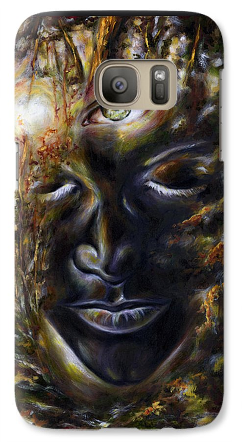 Eye Galaxy S7 Case featuring the painting Revelation by Hiroko Sakai