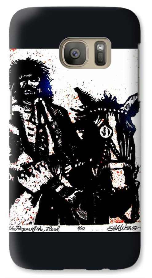English Highwayman Galaxy S7 Case featuring the mixed media Rogue Of The Road by Seth Weaver