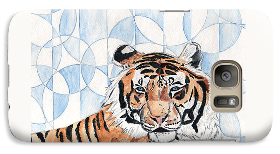 Tiger Galaxy S7 Case featuring the painting Royal Mysticism by Crystal Hubbard