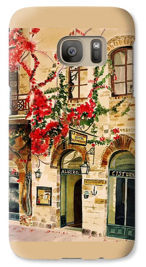 Award-winning Galaxy S7 Case featuring the painting San Gimignano by Judy Swerlick