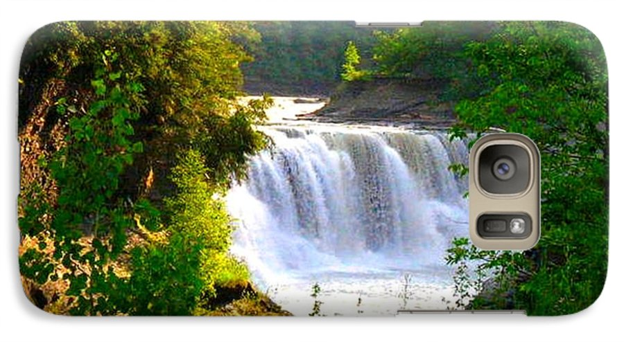 Falls Galaxy S7 Case featuring the photograph Scenic Falls by Rhonda Barrett