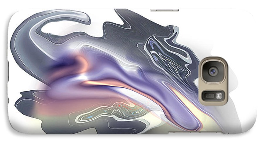 Zodiac Galaxy S7 Case featuring the painting Scorpio by Christian Simonian
