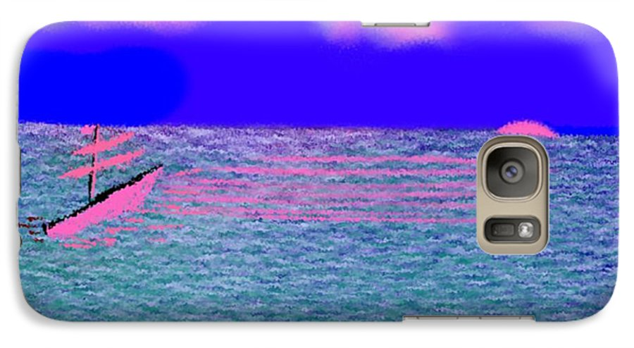 Early Evening Galaxy S7 Case featuring the digital art Sea.sun by Dr Loifer Vladimir