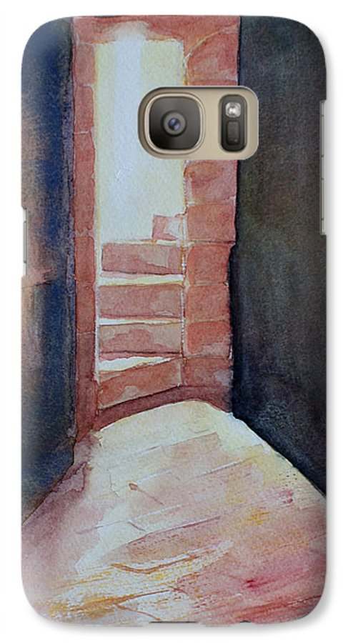 Light Galaxy S7 Case featuring the painting Secrets by Janice Gell