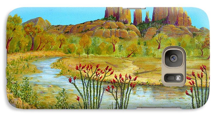 Sedona Galaxy S7 Case featuring the painting Sedona Arizona by Jerome Stumphauzer