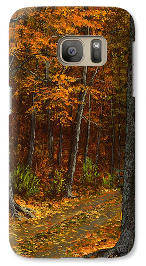 Landscape Galaxy S7 Case featuring the painting Seldom Used by Frank Wilson