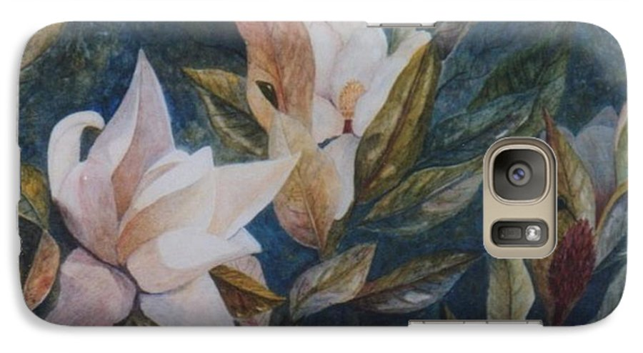 Magnolias; Humming Bird Galaxy S7 Case featuring the painting Serenity by Ben Kiger