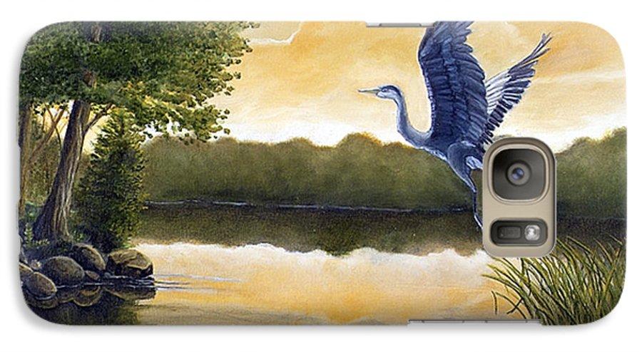 Rick Huotari Galaxy S7 Case featuring the painting Serenity by Rick Huotari