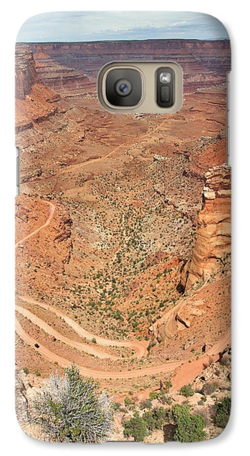 3scape Galaxy S7 Case featuring the photograph Shafer Trail by Adam Romanowicz
