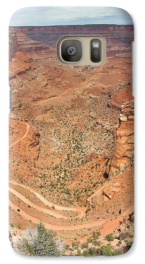 3scape Photos Galaxy S7 Case featuring the photograph Shafer Trail by Adam Romanowicz