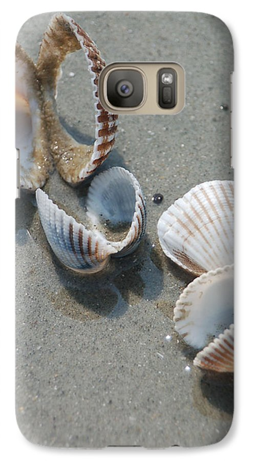 Sea Shell Galaxy S7 Case featuring the photograph She Sells Sea Shells by Suzanne Gaff