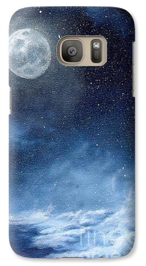 Cosmos Galaxy S7 Case featuring the painting Shimmer by Murphy Elliott