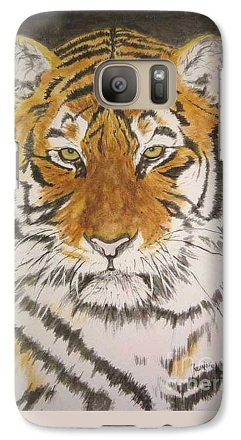 Siberian Tiger Galaxy S7 Case featuring the painting Siberian Tiger by Regan J Smith