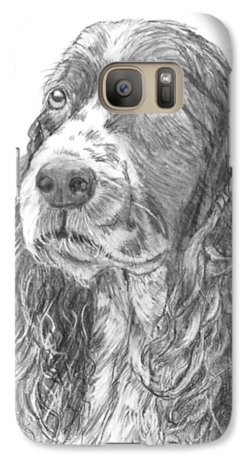 Dog Galaxy S7 Case featuring the drawing Sibley by Quwatha Valentine