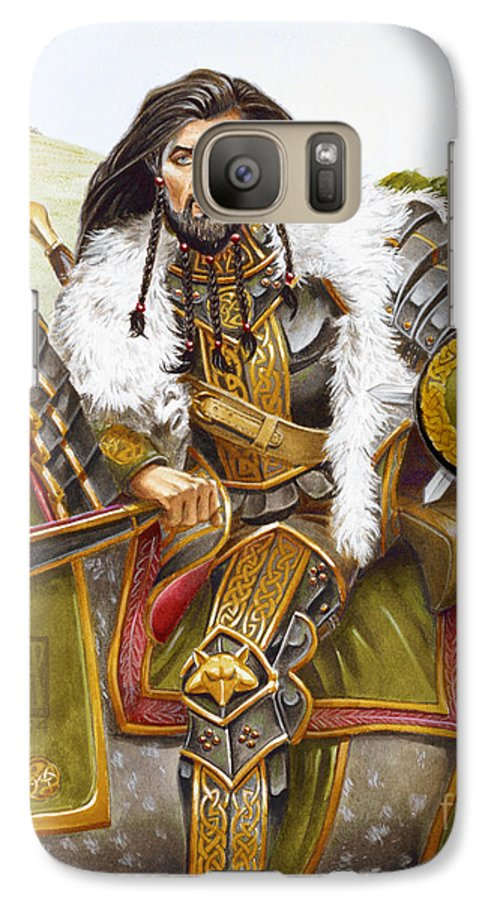 Fine Art Galaxy S7 Case featuring the painting Sir Marhaus by Melissa A Benson