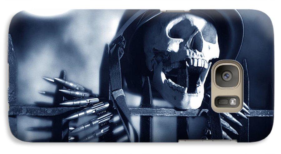 Skull Galaxy S7 Case featuring the photograph Skull by Tony Cordoza