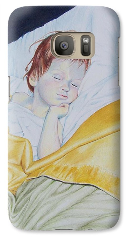 Baby Galaxy S7 Case featuring the mixed media Sleeping Beauty by Constance Drescher