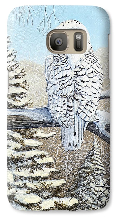 Rick Huotari Galaxy S7 Case featuring the painting Snowy Owl by Rick Huotari
