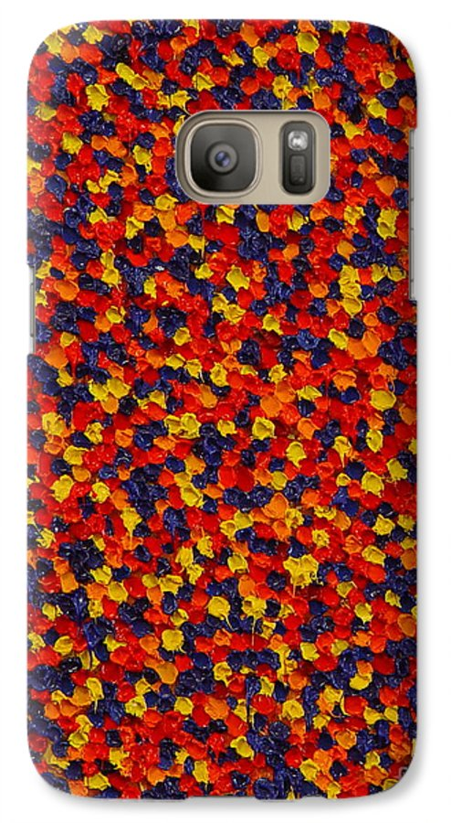 Abstract Galaxy S7 Case featuring the painting Soft Primary by Dean Triolo