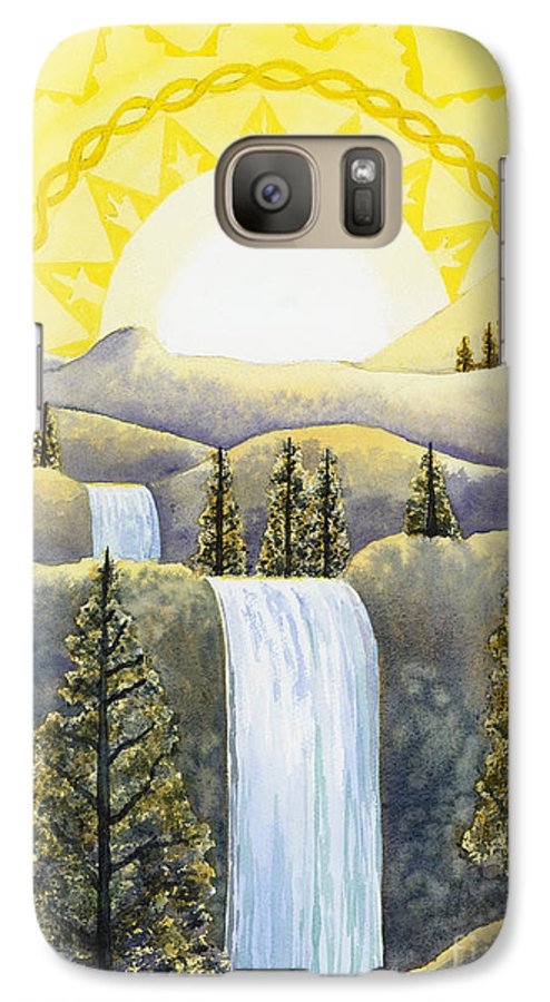 Power Galaxy S7 Case featuring the painting Solar Plexus Chakra by Catherine G McElroy