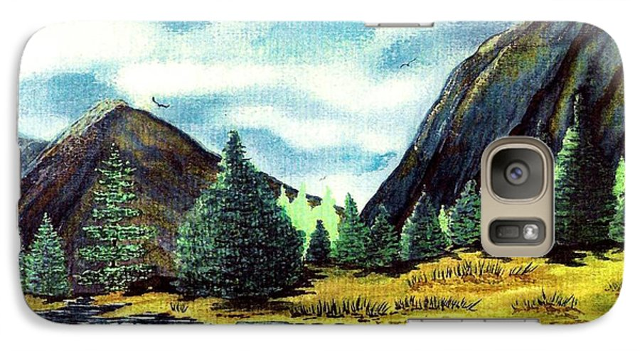 Fine Art Galaxy S7 Case featuring the painting Solitude by Patricia Griffin Brett