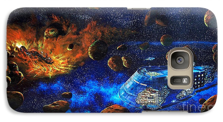 Future Galaxy S7 Case featuring the painting Spaceship Titanic by Murphy Elliott
