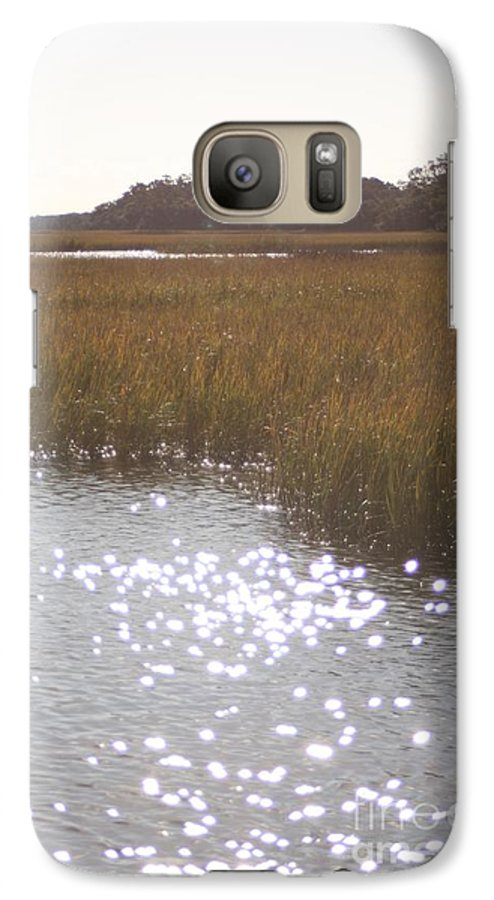 Marsh Galaxy S7 Case featuring the photograph Sparkling Marsh by Nadine Rippelmeyer