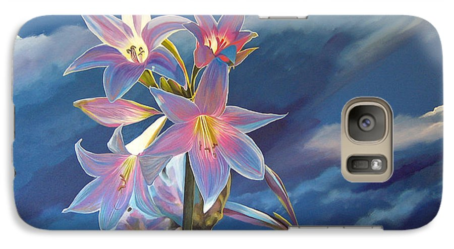 Botanical Galaxy S7 Case featuring the painting Spellbound by Hunter Jay