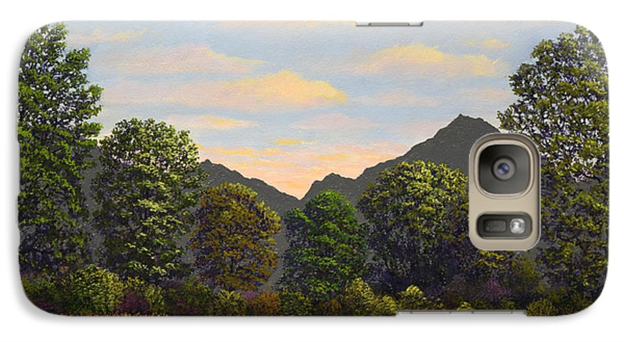 Spring Meadow At Sutter Buttes Galaxy S7 Case featuring the painting Spring Meadow At Sutter Buttes by Frank Wilson