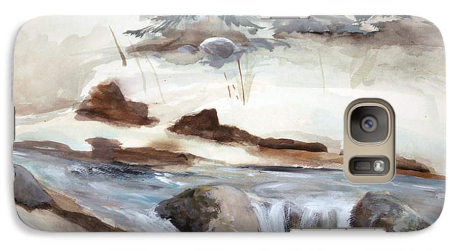 Rick Huotari Galaxy S7 Case featuring the painting Springtime by Rick Huotari