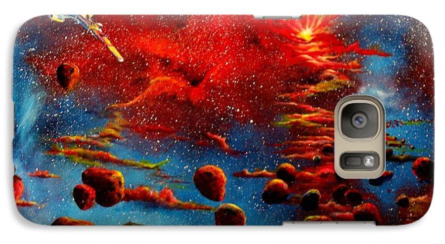 Nova Galaxy S7 Case featuring the painting Starberry Nova Alien Excape by Murphy Elliott