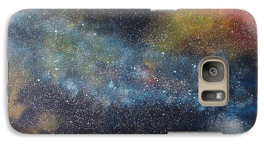Space;stars;starry;nebula;spiral;galaxy;star Cluster;celestial;cosmos;universe;orgasm Galaxy S7 Case featuring the painting Stargasm by Sean Connolly
