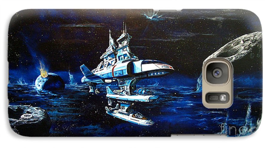 Alien Galaxy S7 Case featuring the painting Stellar Cruiser by Murphy Elliott