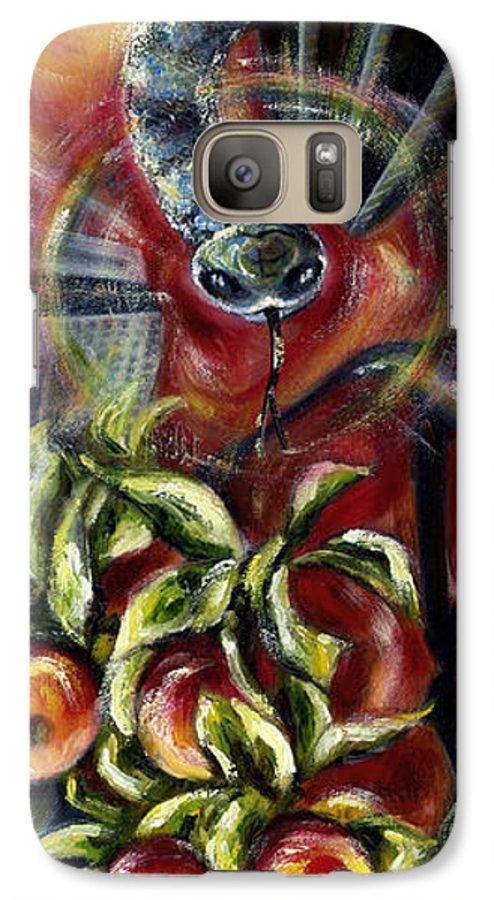 Snake Galaxy S7 Case featuring the painting Still... by Hiroko Sakai