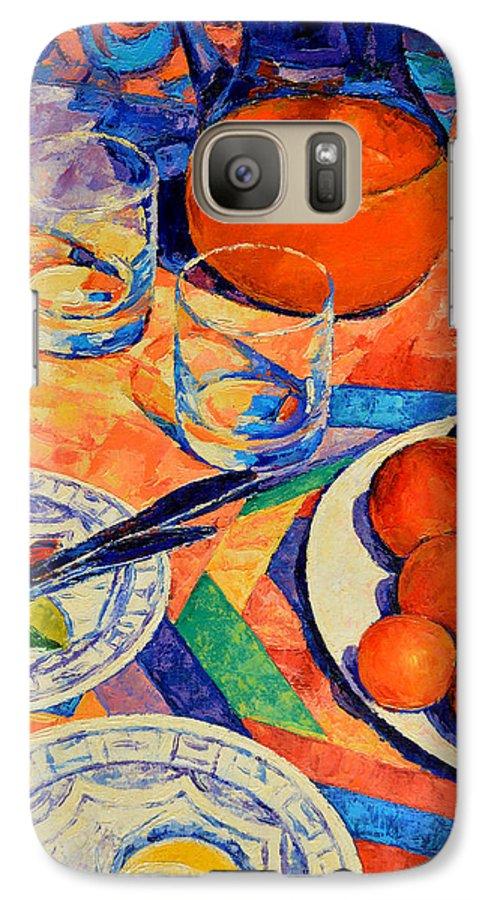 Still Life Galaxy S7 Case featuring the painting Still Life 1 by Iliyan Bozhanov
