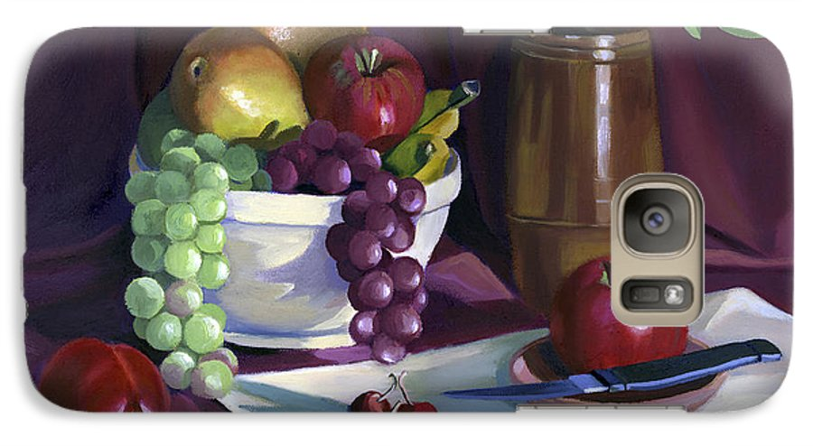 Fine Art Galaxy S7 Case featuring the painting Still Life With Apples by Nancy Griswold
