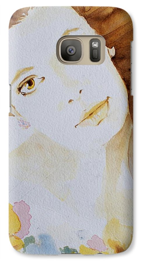 Watercolour Galaxy S7 Case featuring the painting Still Waters' Reflection by Janice Gell
