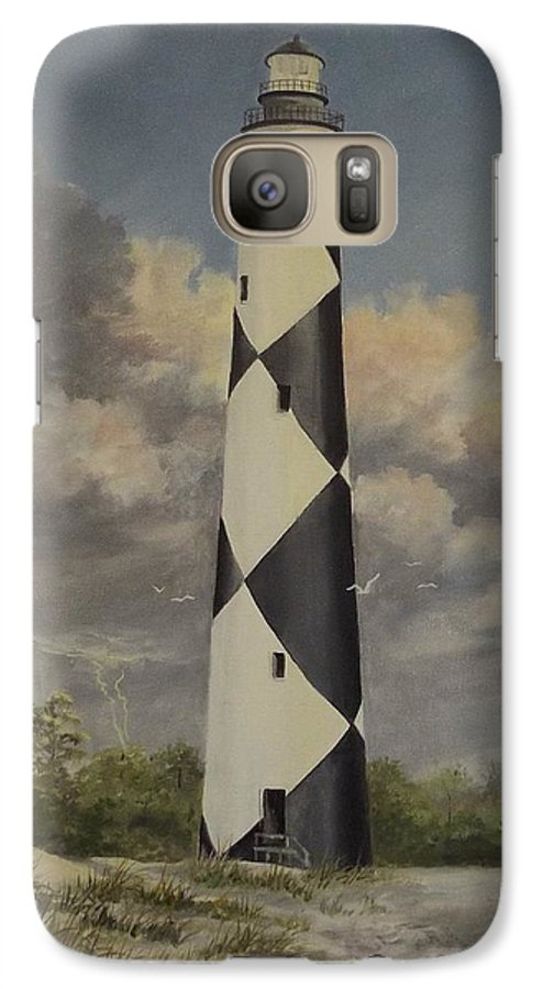 Stormy Skys Galaxy S7 Case featuring the painting Storm Over Cape Fear by Wanda Dansereau