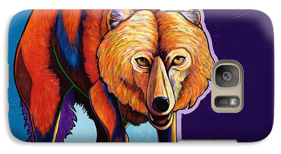Contemporary Galaxy S7 Case featuring the painting Strictly Business - Arctic Wolf by Joe Triano