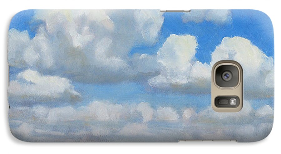 Landscape Galaxy S7 Case featuring the painting Summer Pasture by Bruce Morrison