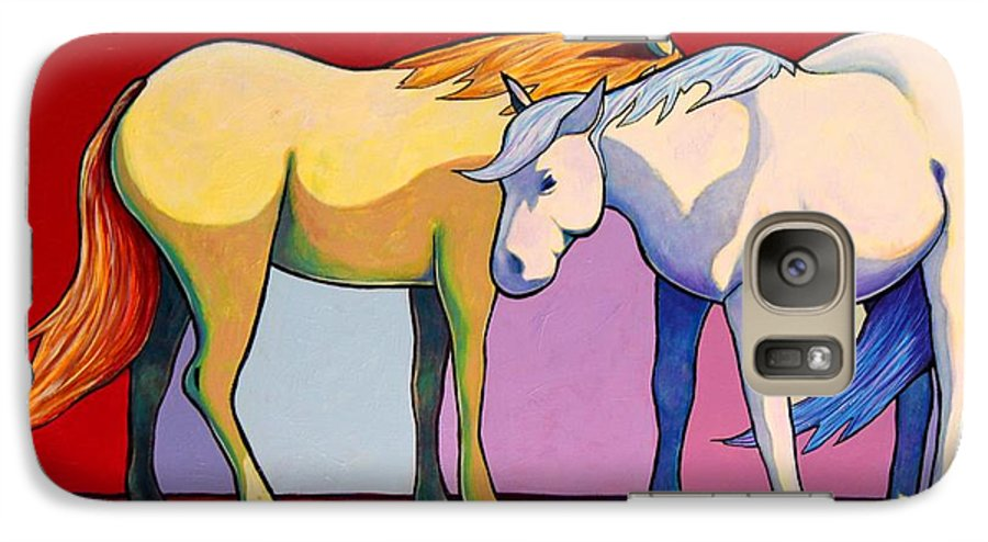 Wildlife Galaxy S7 Case featuring the painting Summer Winds - Mustangs by Joe Triano