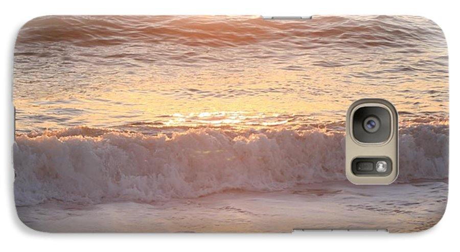 Waves Galaxy S7 Case featuring the photograph Sunrise Waves by Nadine Rippelmeyer