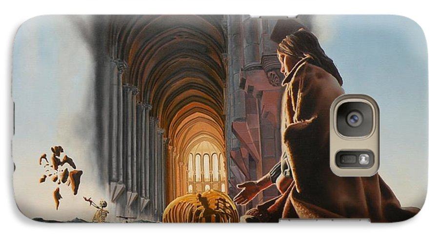 Surreal Galaxy S7 Case featuring the painting Surreal Cathedral by Dave Martsolf