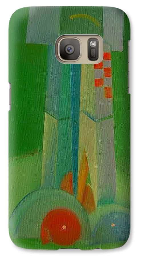 Cubist View Of Figure Galaxy S7 Case featuring the painting Survivors by Charles Stuart