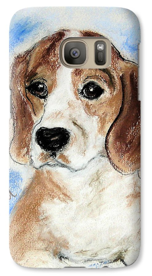 Dog Galaxy S7 Case featuring the drawing Sweet Innocence by Cori Solomon
