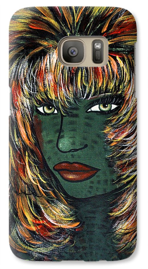 Woman Galaxy S7 Case featuring the painting Tattoo by Natalie Holland