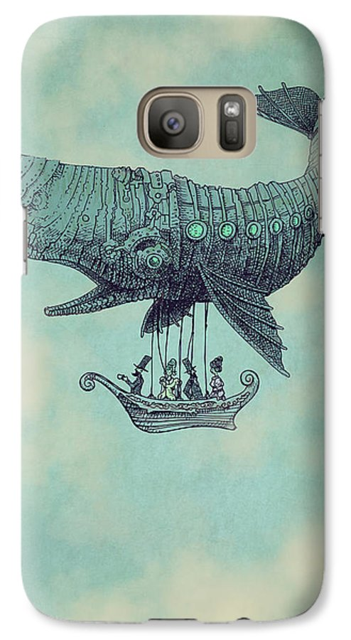 Whale Galaxy S7 Case featuring the drawing Tea at Two Thousand Feet by Eric Fan